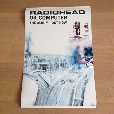 Radiohead - Ok Computer - Hanging Banner Official Promo Shop Display - Very Rare