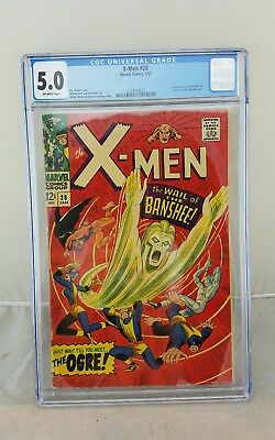 X-MEN 28 Comic CGC 5.0 Key Issue First Appearance Of Banshee .99