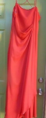 Red Strappy lace up Back Evening Gown, Prom, Bridesmaid Formal Dress Size 16