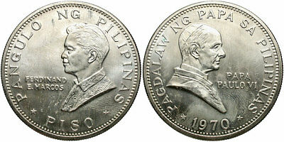 PHILIPPINES: 1970 1 Piso Papal visit #WC70765