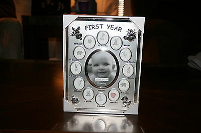"Malden First Year Baby Picture Frame 10"" X 7 1/2"""