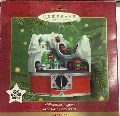 Hallmark QXM7364 Miniature Lionel Millennium Express Light, Motion, Sound Christ