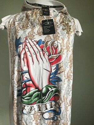 "NWT Christian Audigier T-Shirt ""Pain Ted"", Men's Size Large"