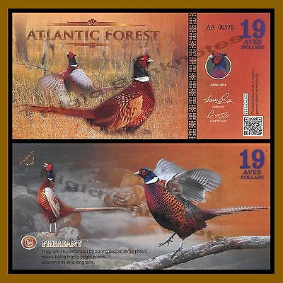 Atlantic Forest 19 Aves Dollars, 2016 Pheasant Unc