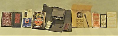Lot 11 Antiq Sewing & Machine Needles In Interesting Packages.assorted Needles