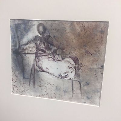 Mysterious Mixed Media Or Serigraph Signed Monogramed Alloway Estate