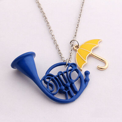 HIMYM How I Met your Mother Umbrella + French horn Metall Anhänger Halskette