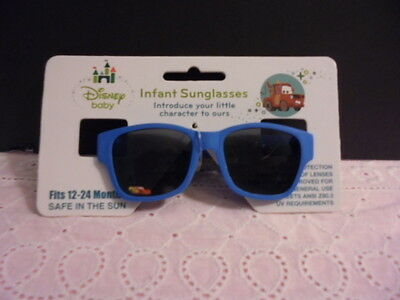 New Disney Baby Cars Baby Infant Boy Sunglasses 12-14 Mo 100% Uv Protection Cute