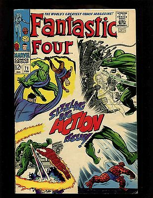 Fantastic Four #71 FNVF Kirby Sinnott Crystal (Inhumans) Mad Thinkers Android