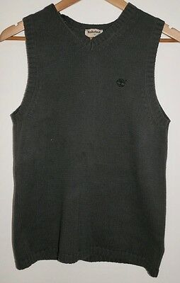 Timberland cotton Knitted vest Grey size 14 exc cond