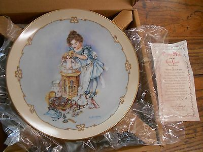 vtg Hamilton Little Ladies plate collectors plate Playing Mama girl bathing doll