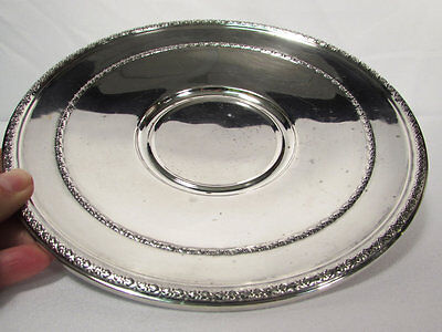Alvin Sterling Silver Footed Serving Bowl Plate 182 GR 8 1/2 Inches