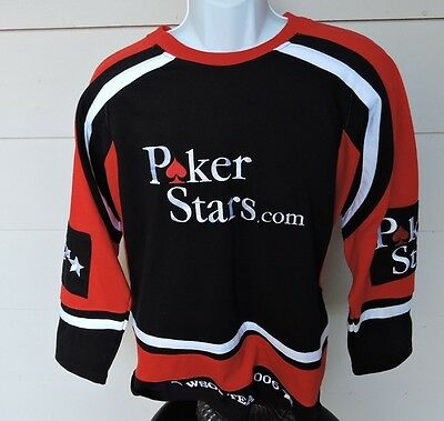 Poker Stars WSOP 2006 Crewneck Embroidered Hockey Jersey Shirt SIZE S