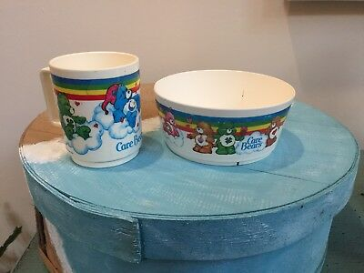 Care Bears Vintage Cup And Bowl