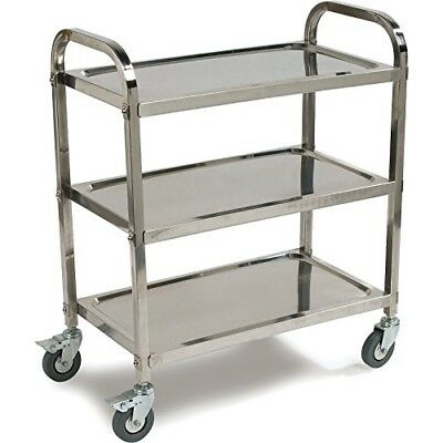 Carlisle UC4031529  Knockdown Stainless Steel 3 Shelf Utility / Service Cart, 40