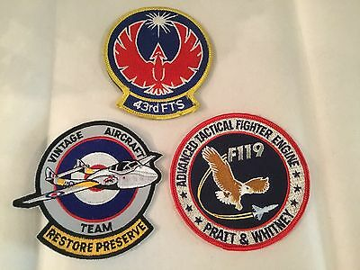 Vintage Lot 3 Military US Air Force Patches Tactical Fighter Preserve