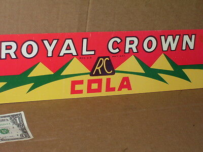 ROYAL CROWN - RC COLA - We Serve - ICE COLD - SCREEN DOOR Push Plate -LONG SIGN