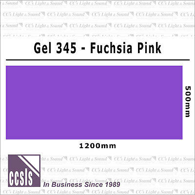 Clear Color 345 Filter Sheet - Fuschia Pink
