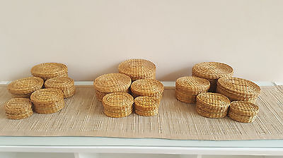 SUPER SALE! EX-HIRE WEDDING SUPPLIES : Approx 6 x Small Oval Baskets