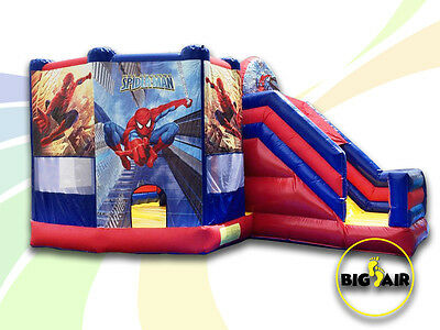 Brand New SPIDERMAN Commercial Quality Jumping Castle & Slide - 6.5m x 4m x 4m