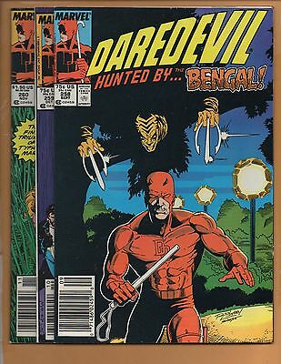 Daredevil #258 259 & 260 Typhoid Mary 1st Bengal VF/NM to NM-