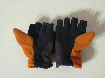 Used Boys Youth Size 4-7 Fingerless Gloves (With Cover)