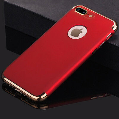 For iPhone 7 Plus Case Mosafe Electroplate Shockproof Protective Back Cover Red
