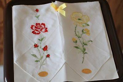 Two !! Vintage Handkerchief New Made in Switzerland All Cotton