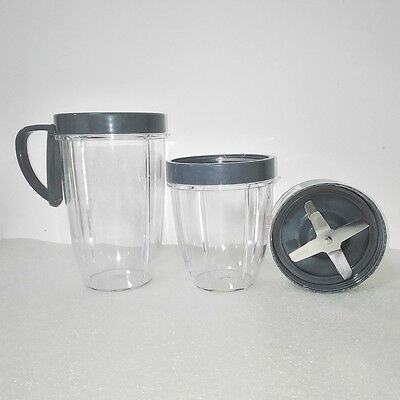 Replacement Cups Lid Set Extractor Cross Blade For Nutribullet Blender AU Stock