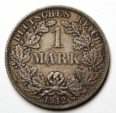 1912 A  Germany - Empire Mark KM# 14 Silver Coin