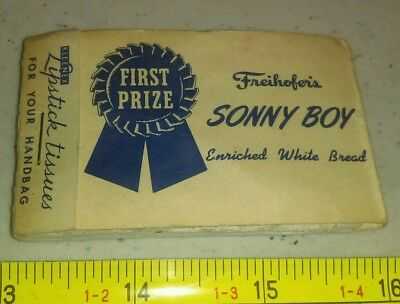 Vintage Freihofer's Sonny Boy Bread Advertising KleenEx Tissues Rare