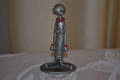 KFS Spoontiques Olive Oyl Miniature Pewter Figurine From Popeye Series 1980
