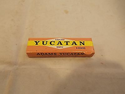 Vtg Adams Yucatan Chewing Gum, 5 Sticks Package, Unopened