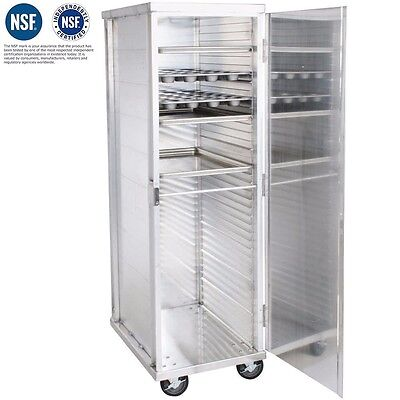Commercial Kitchen 40 Sheet End Load Bun Pan Bakery Rack Oven Enclosed Storage