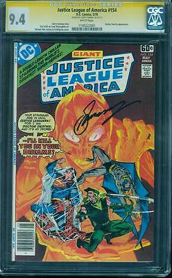Justice League 154 CGC SS 9.4 Gerry Conway Batman Superman 1978 White pgs