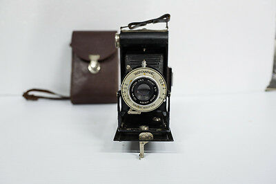 Kodak six 20 brownie folding camera, Dakon shutter 100mm f6.3 lens