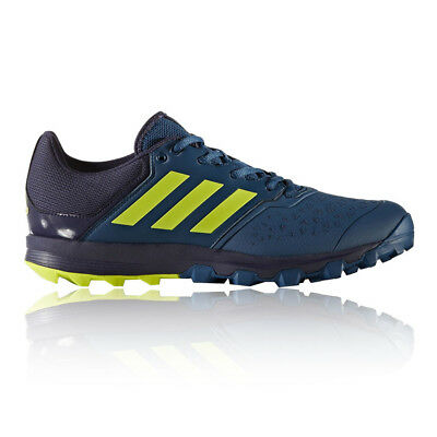 Adidas Flex Cloud Mens Blue Hockey Court Sports Shoes Trainers Sneakers