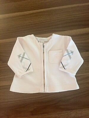 Baby Pink Burberry Jumper Age 1-4 Months