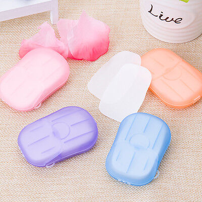 40pcs Disposable hand washing tablet Travel carry Soap paper toilet soap paper