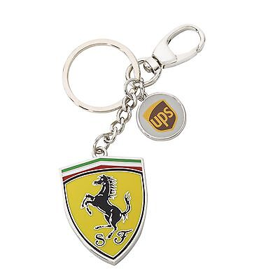 New Ferrari Shield United Parcel Service Key Ring Key Chain Enamelled Metal