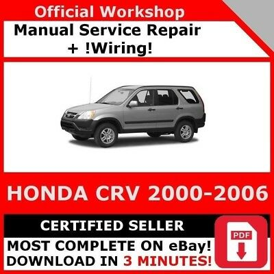 # Factory Workshop Service Repair Manual Honda Crv 2000-2006 +Wiring