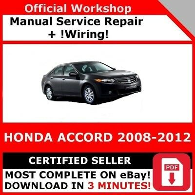 # Factory Workshop Service Repair Manual Us Honda Accord 2008-2012 Wiring