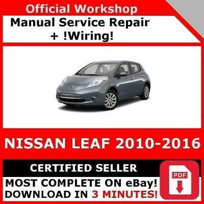 # Factory Workshop Service Repair Manual Nissan Leaf 2010-2016 +Wiring