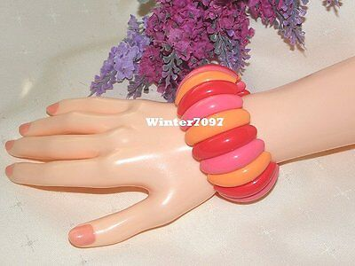 **ladies Fashion Bangle**red, Pink, Peach**new!**stretchy**
