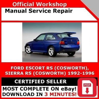 factory workshop service repair manual ford escort sierra rs