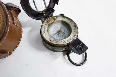 Compass, beautiful, piece, looks like a military compass with original case