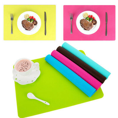 Hot Non-slip Waterproof Insulation Bowl Silicone Mat Placemat Table Protector