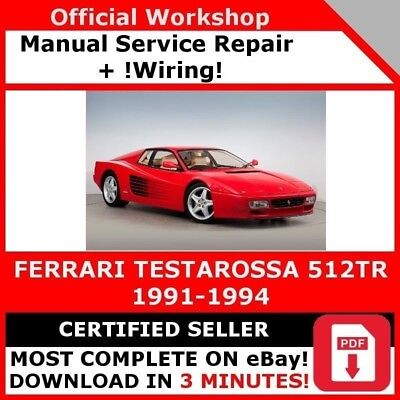 ferrari 348 factory workshop manual service technical. Black Bedroom Furniture Sets. Home Design Ideas