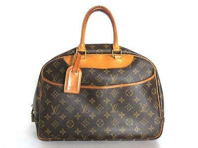 Authentic LOUIS VUITTON Monogram Canvas Leather Deauville Handbag Bag