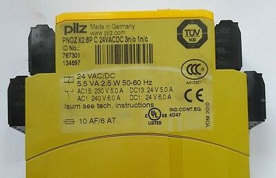 PILZ 787301 PNOZ X2.8P C 24VACDC 3n/o 1n/c SAFETY RELAY (IN37S3B4)